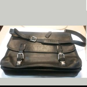 Vintage Coach Hudson Black Leather Briefcase